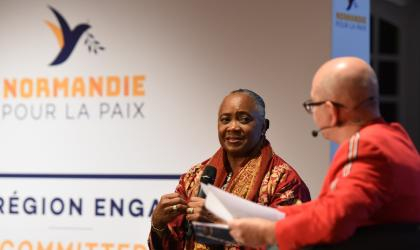 Barbara Hendricks during the conference
